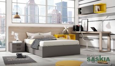 Habitación juvenil, muebles modernos