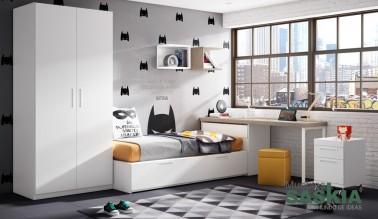 Habitación juvenil tonos claros