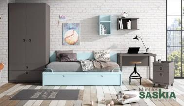 Dormitorio  actual, juvenil