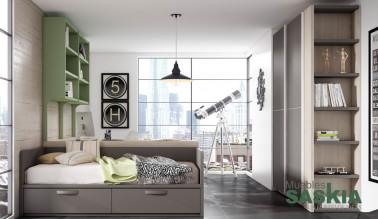 Composición de dormitorio juvenil