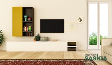 Conjunto de muebles de salón estilo actual