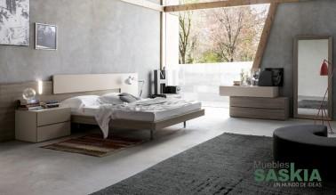 Habitación moderna de madera