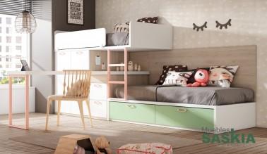 Dormitorio compartido, juvenil