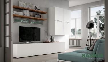 Muebles de salón blancos