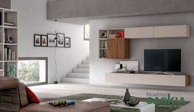 Ambientes de sal n moderno muebles saskia en pamplona - Ambientes salones modernos ...
