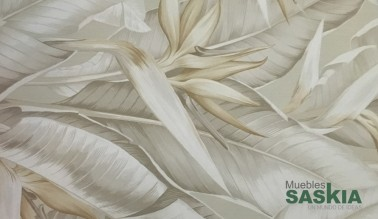 Papel pintado, hojas motivo floral