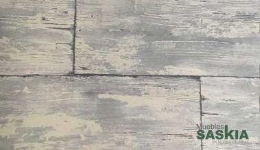 Papel pintado, madera decolorada