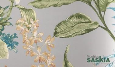 Papel pintado, elementos florales