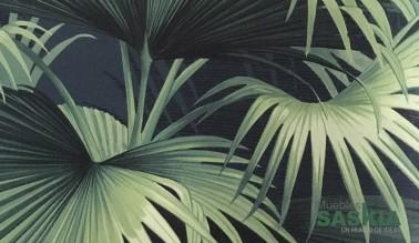 Papel pintado, palmeras verdes