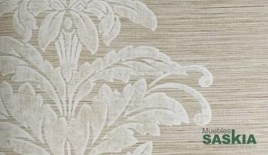 Papel pintado, estampado motivo floral