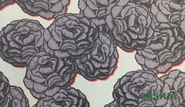 Papel para pared, motivo rosas
