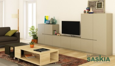 Composición muebles de salón tendencia