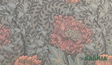 Tela con motivo floral para tapizar