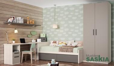Composición juvenil de muebles