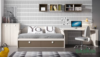 Dormitorio juvenil actual