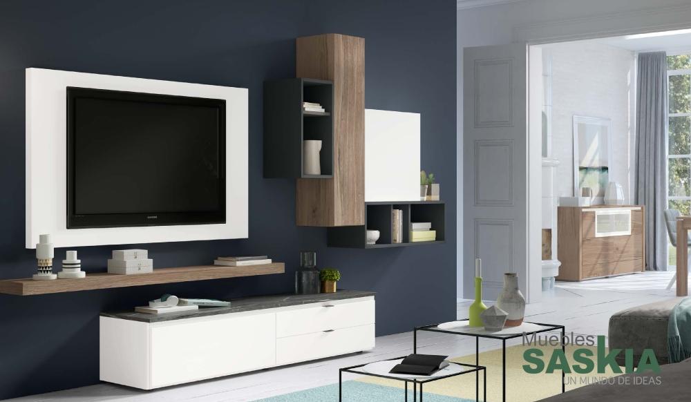 Muebles de salón actual, ambiente moderno, Rosamor