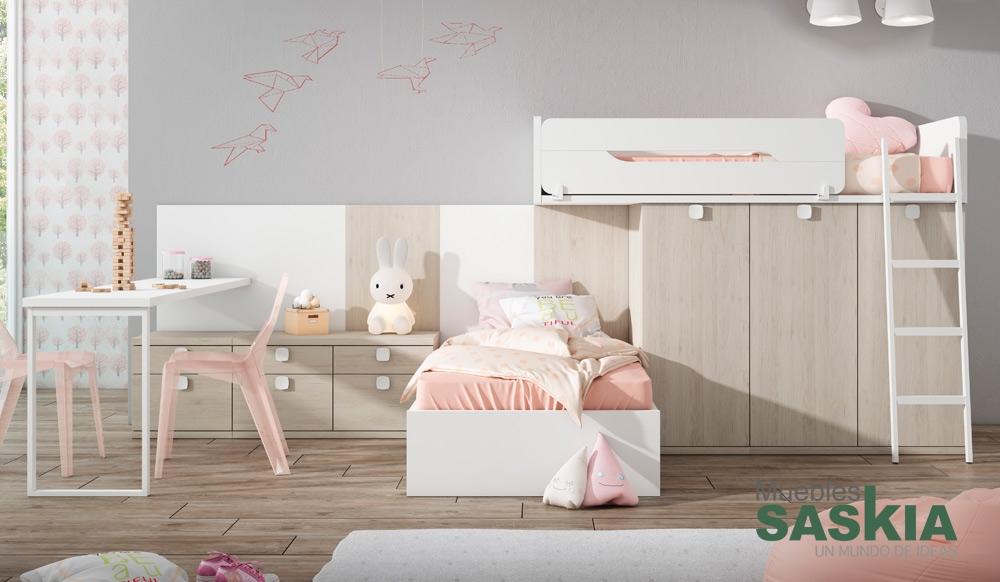 Dormitorio para dos juvenil muebles saskia en pamplona - Dormitorios juveniles pamplona ...