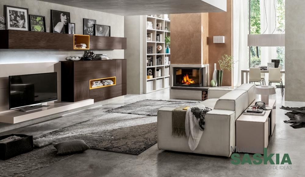 Ambientes de Salón Moderno  Muebles Saskia en Pamplona
