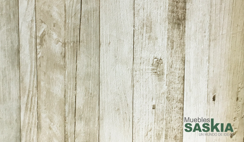 Papel pintado, listones de madera