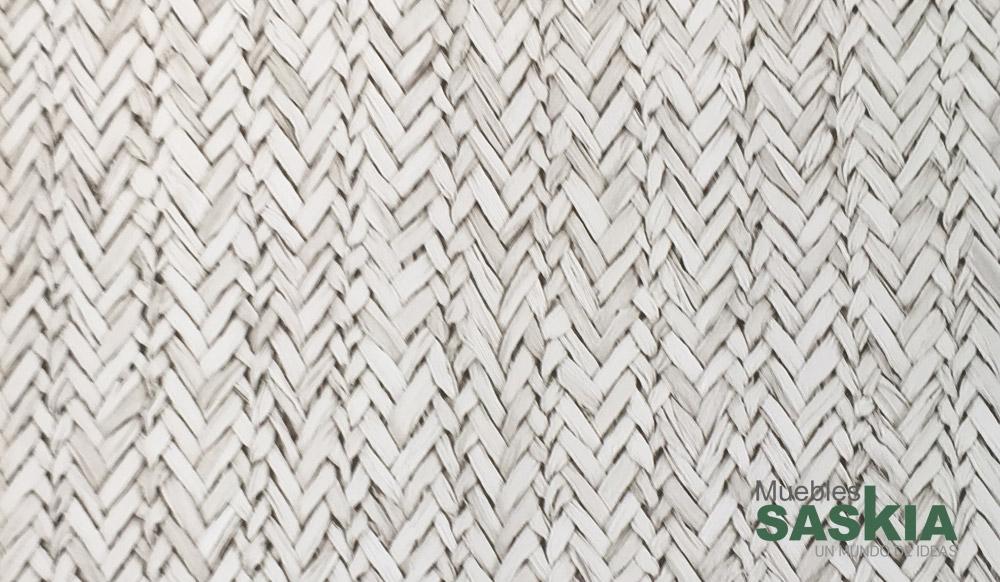 Papel pintado, fibras entrelazadas blancas