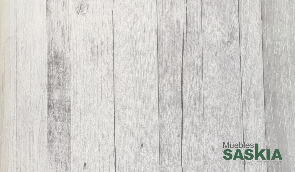 Papel pintado, madera blanca