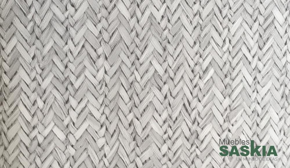 Papel pintado, fibras grises entrelazadas