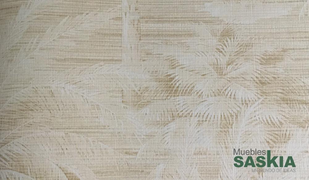 Papel pintado, motivo palmeras tonos crema