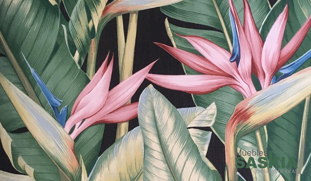 Papel pintado, plantas coloridas