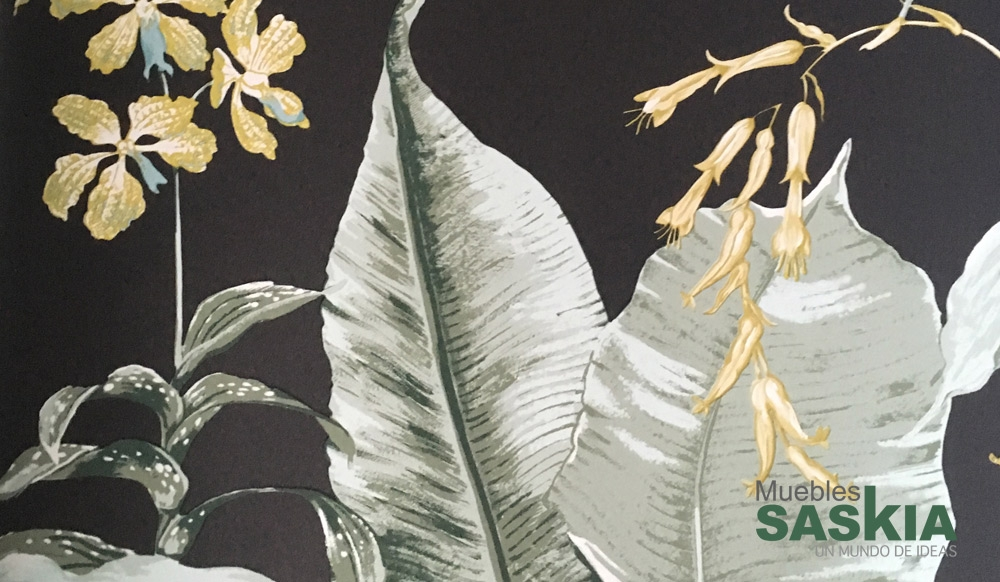 Papel pintado, motivo de flores