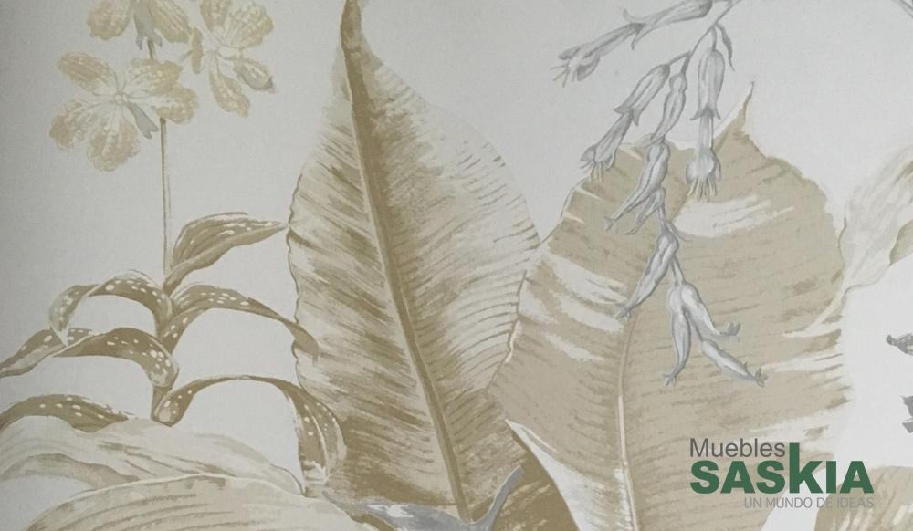 Papel para pared, plantas monocromo