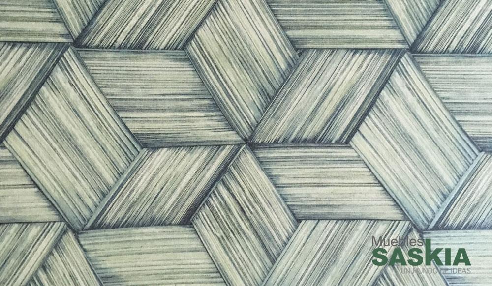 Papel pintado, rombos verdes