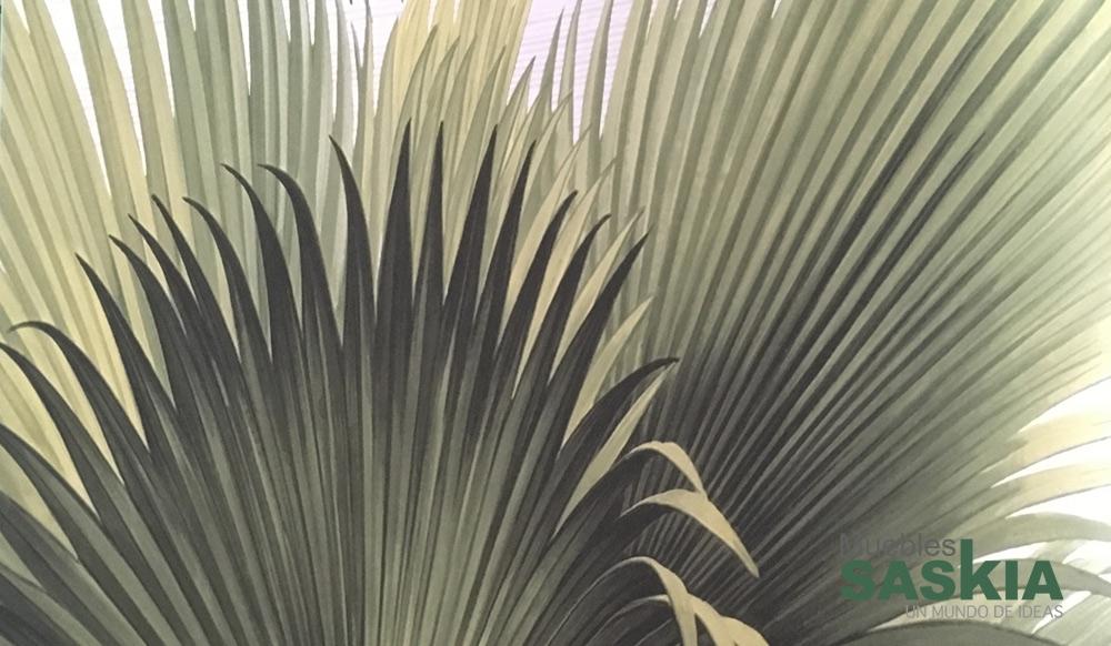 Papel pintado, palmeras verdes claro