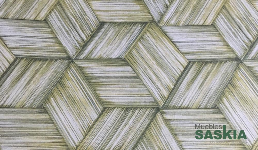 Papel pintado, fibras entrelazadas