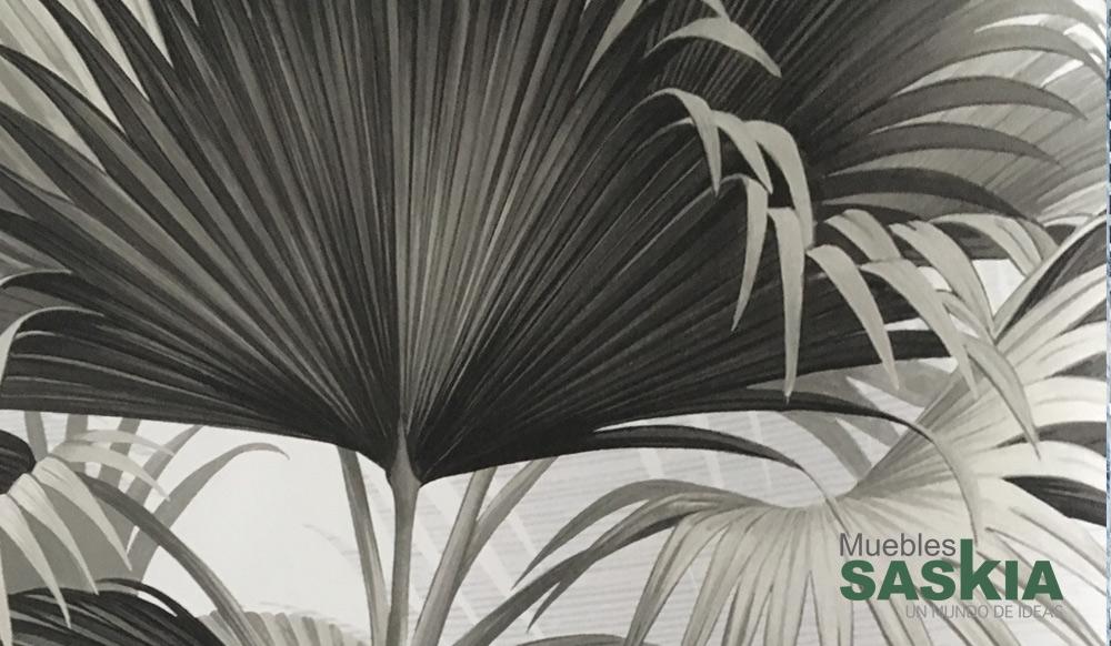 Papel pintado, hojas de palmera