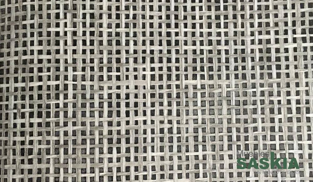 Papel pintado, fibras negras entrelazadas