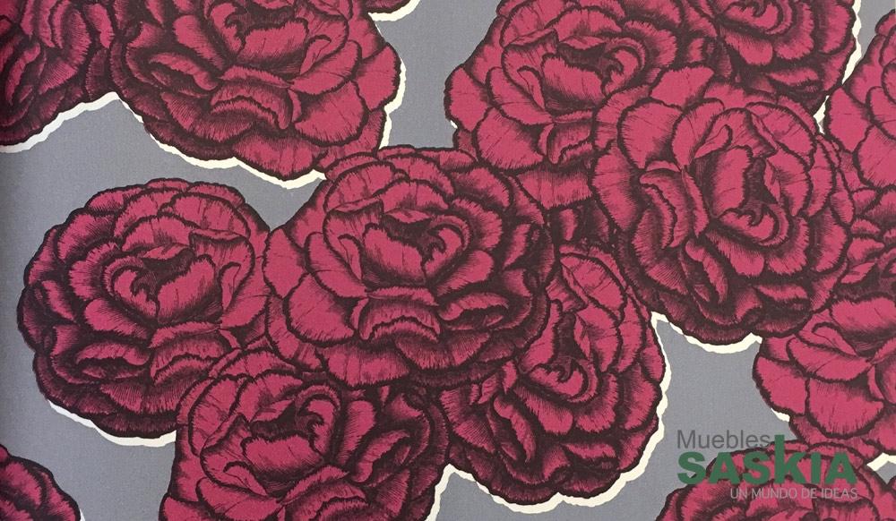 Papel para pared, rosas superpuestas