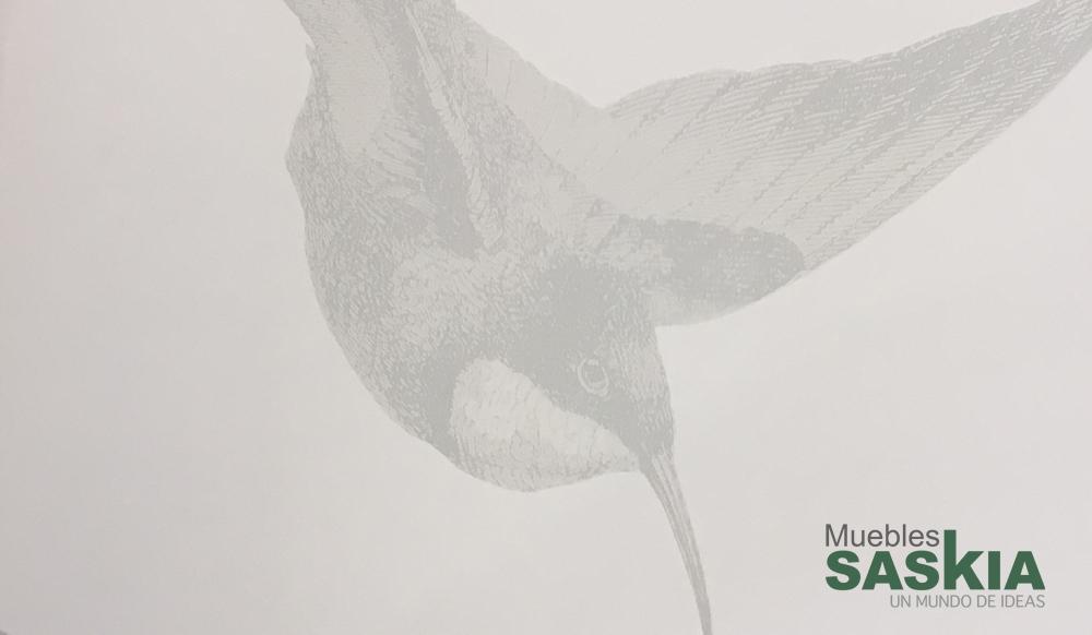 Papel pintado, pájaros unidos por ala