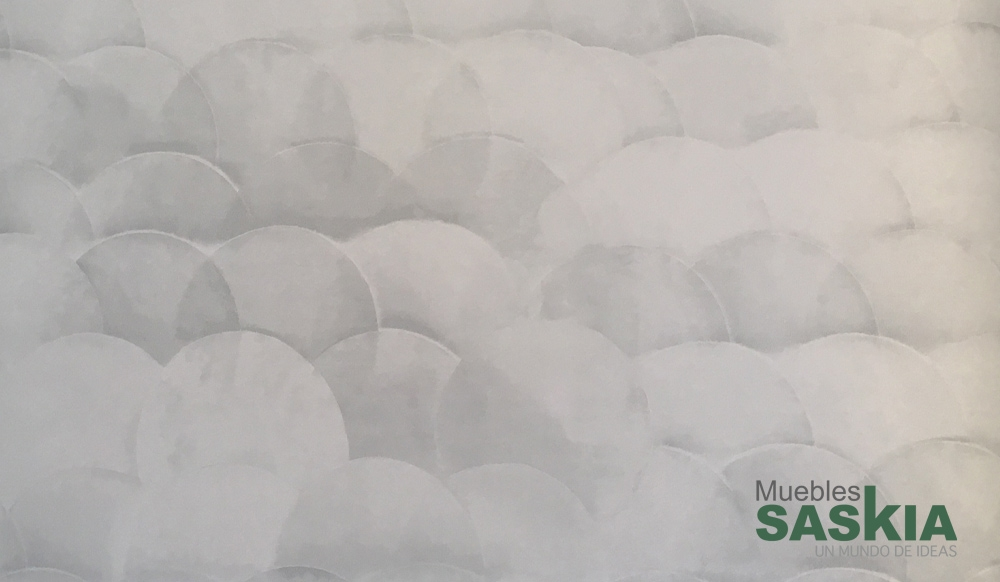 Papel para pared, motivo circular