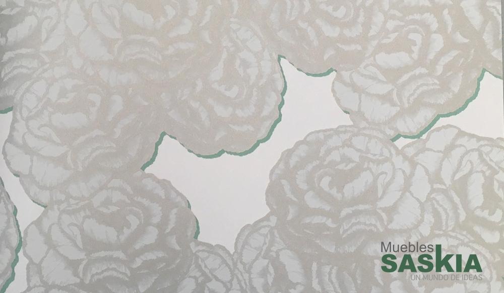 Papel pintado, motivo flores