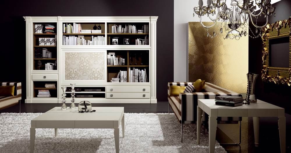 Sal n classic 2 muebles saskia en pamplona for Decoracion salon clasico