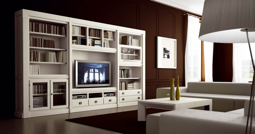 Sal n contempor neo 14 muebles saskia en pamplona for Muebles para tv contemporaneos