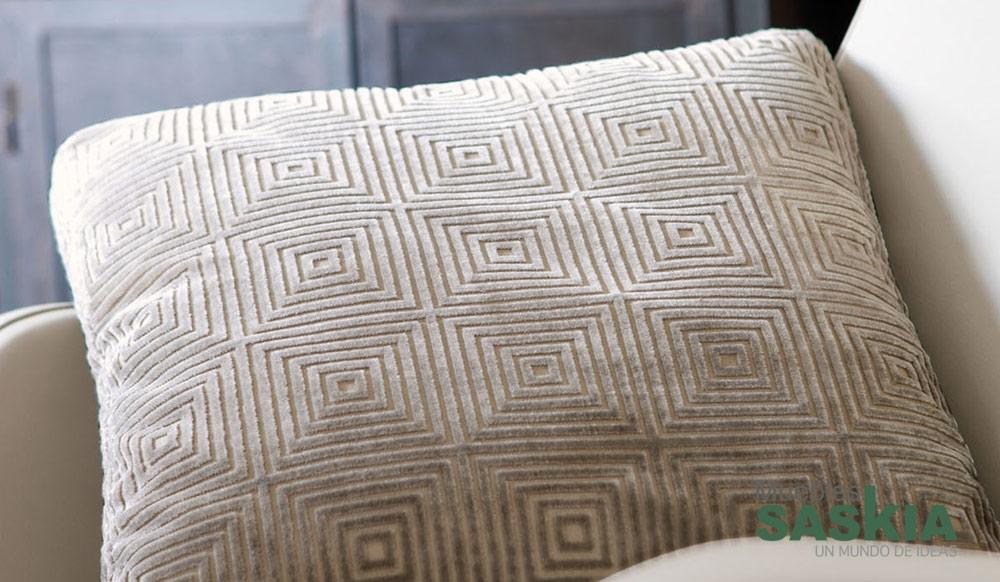 Motivo moderno en esta tela para tapizar muebles