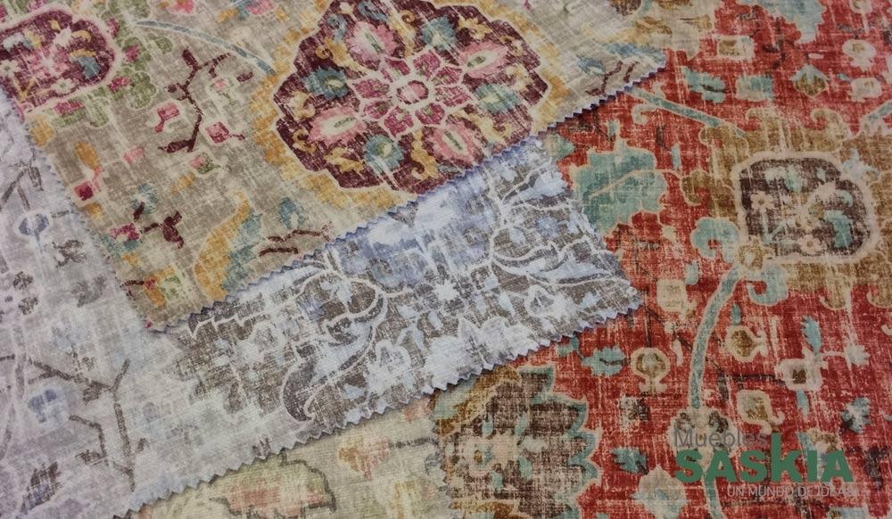 Tela colorida para tapizar muebles saskia en pamplona for Catalogo de telas para tapizar muebles