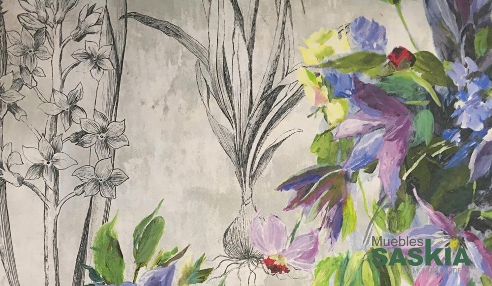 Moderno estampado floral