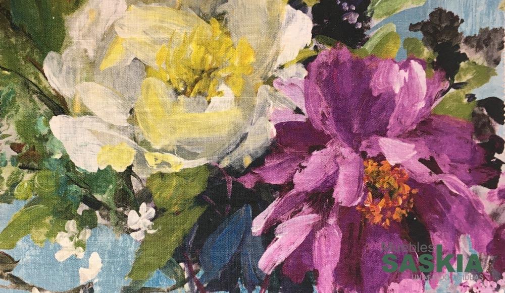 Tela para tapizar, estampado floral