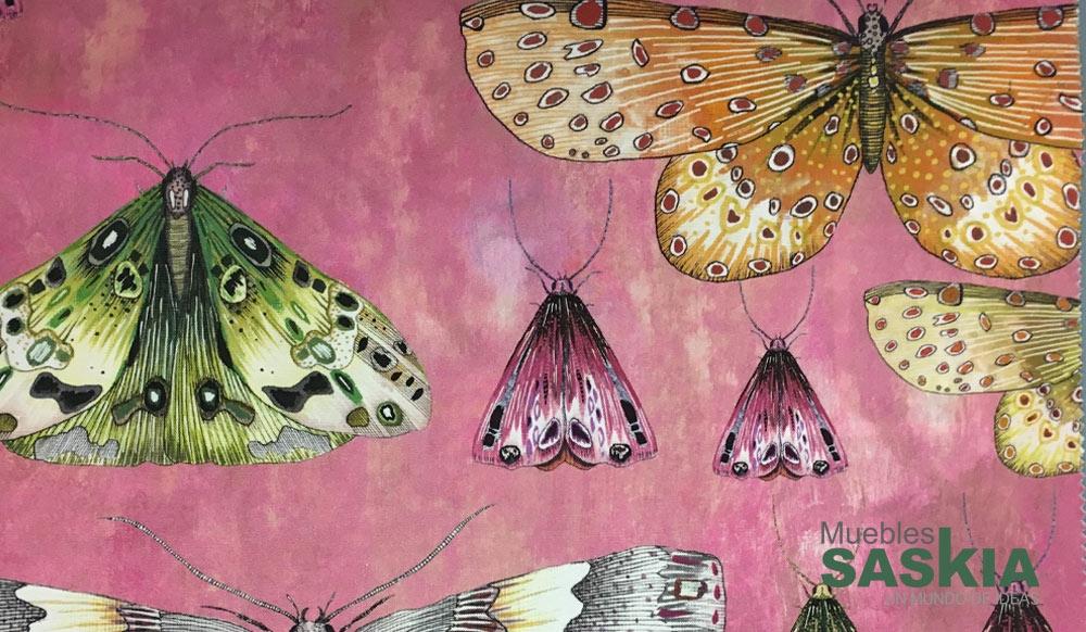 Tela de mariposas