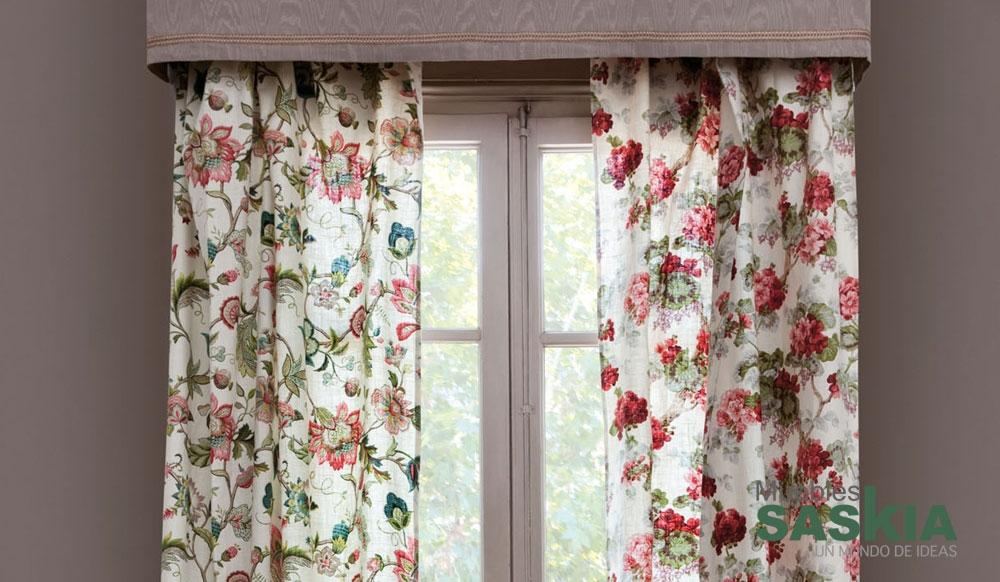 Tela para tapizar con motivo floral