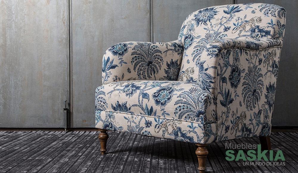 Diseño de flores, tela para tapicería