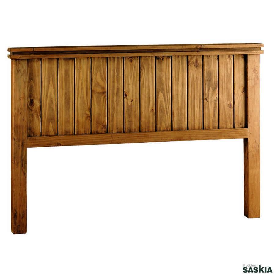 Cabecero de estilo rústico, realizado en madera maciza de pino mexicano. Colección de mueble rústico mexicano. Visita nuestra tienda de muebles de Pamplona.