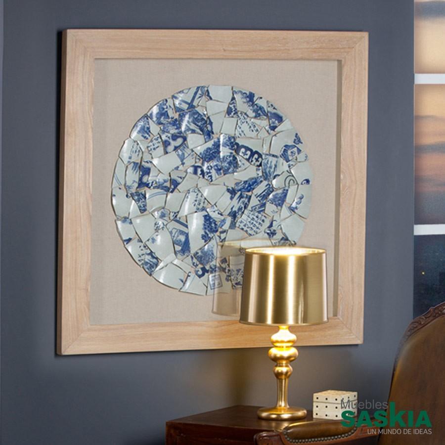 Cuadro fragmentos azul 90